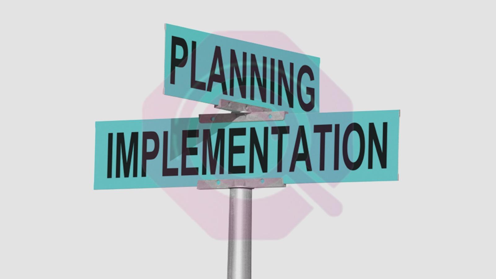 التخطيط والتنفيذ لتحقيق الأهداف